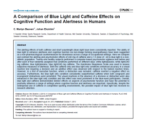 Comparison of Blue Light and Caffeine